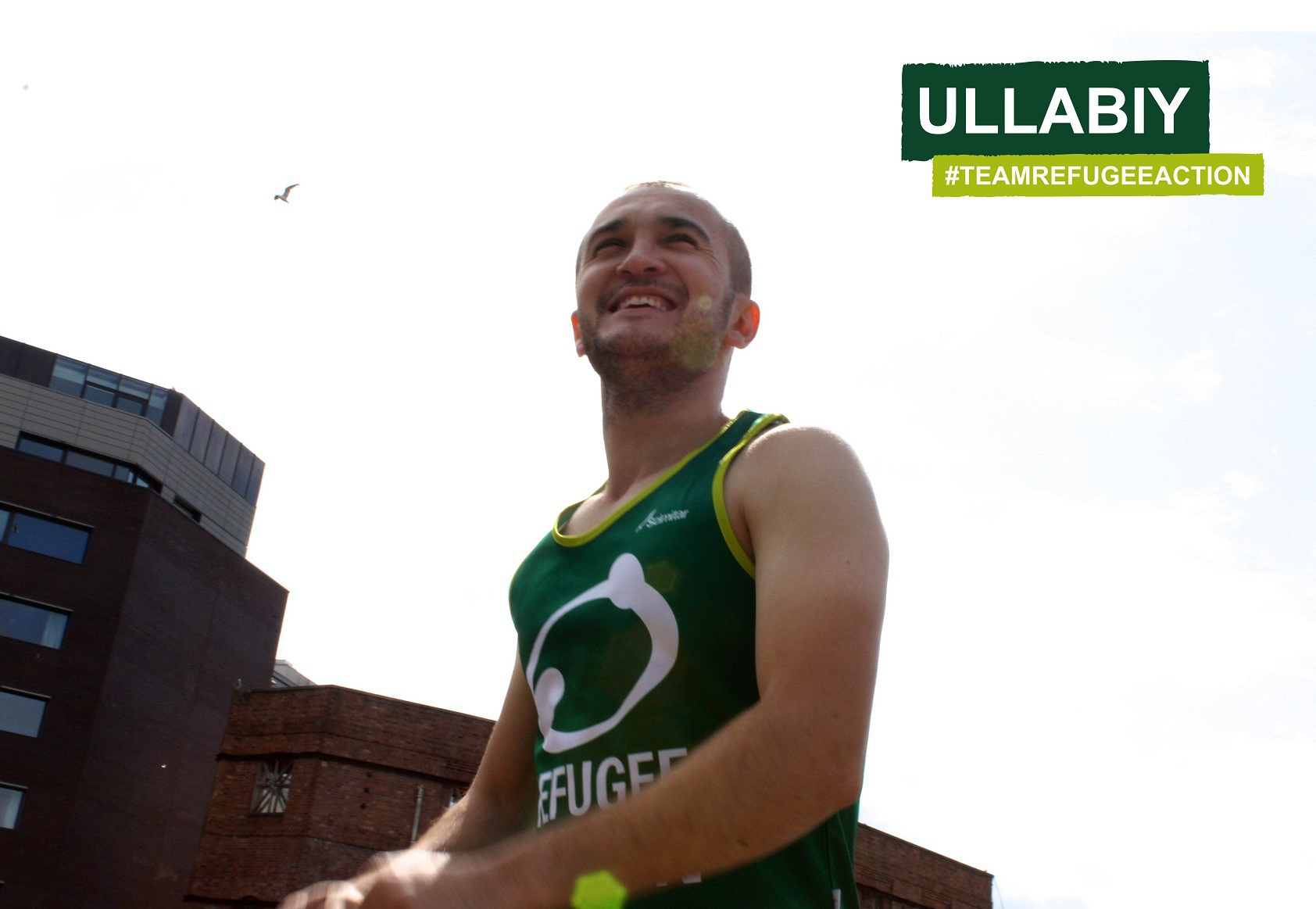 Ullabiy is running for Refugee Action in the 2014 Bristol Half Marathon Photo Refugee Action