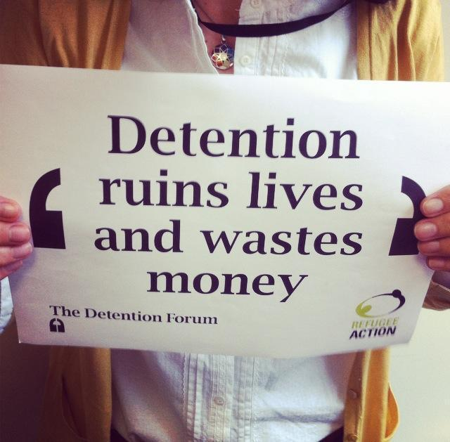 A week in the live of a immigration detention caseworker. Photo Refugee Action