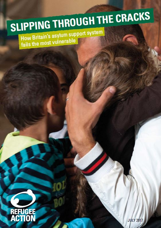Cover of Refugee Action's report on asylum support